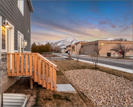 Mountain view at Hearth Stone Community