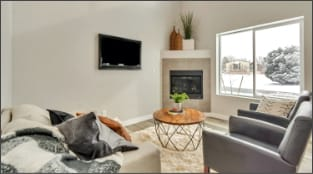 Hearth Stone by Next Level Homes Teton Living Area