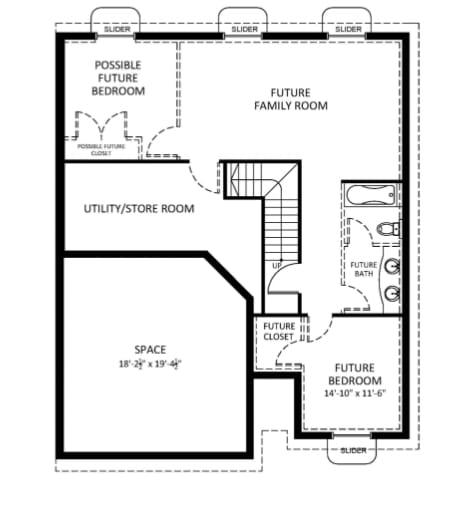 Teton Floor Plan - Basement