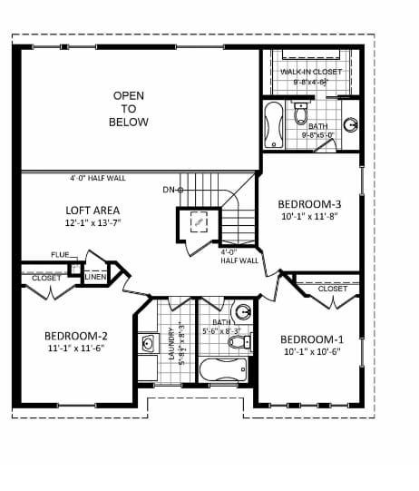 Teton floor plan, Level 2