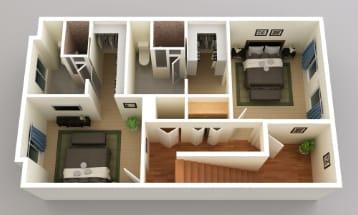 Two Master Bedrooms, Granite Lofts, Salt Lake City