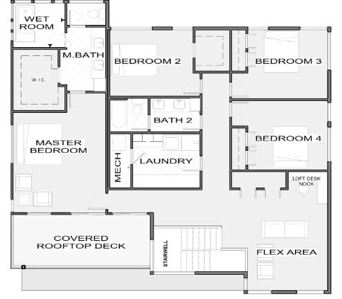 Bristol Level 2 Floor plan by Next Level Homes