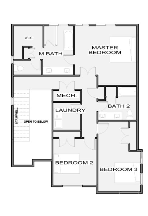 Essex Floor plan, level 2, by Next Level Homes
