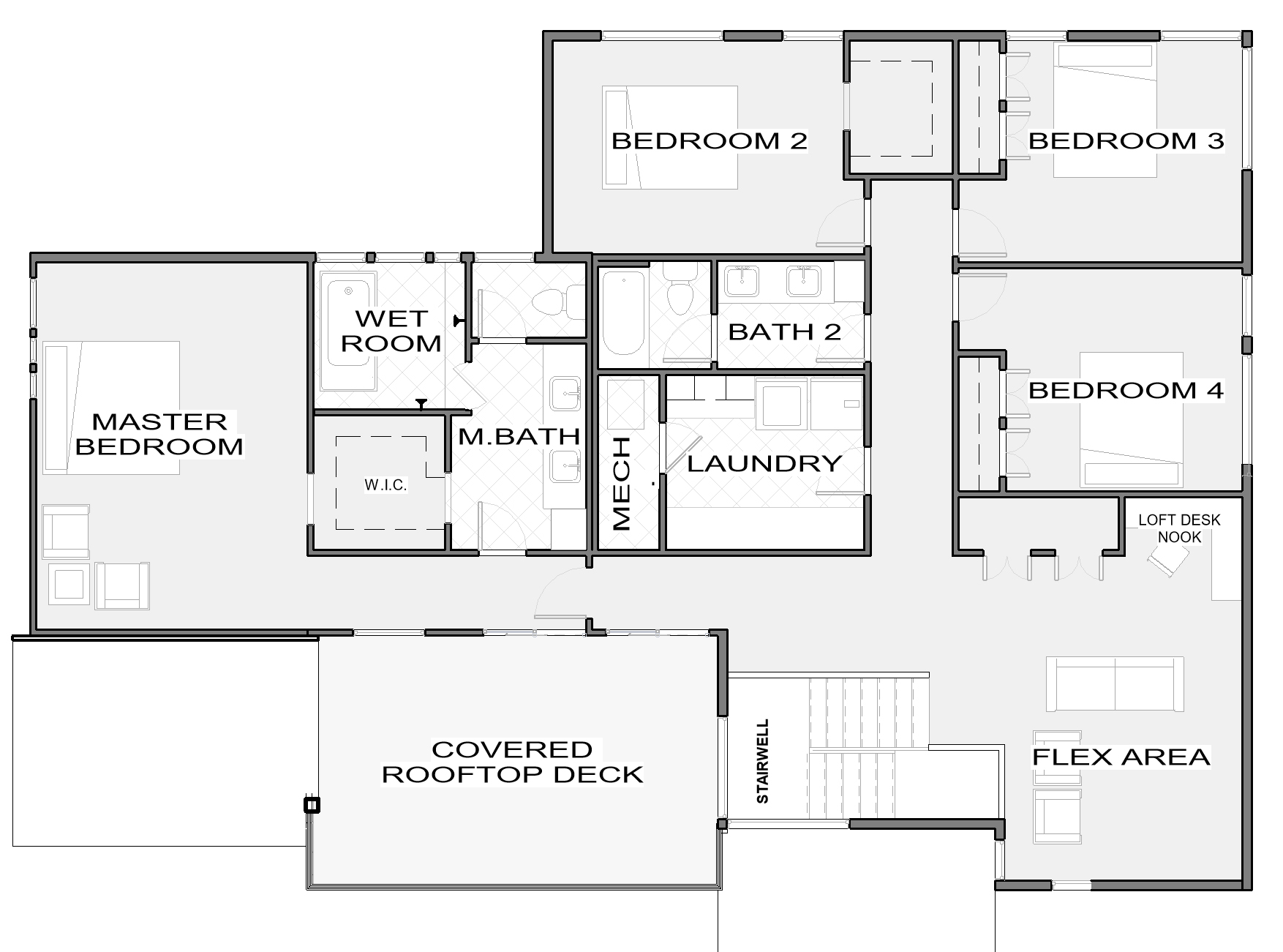Bedford 2nd Floor Plan