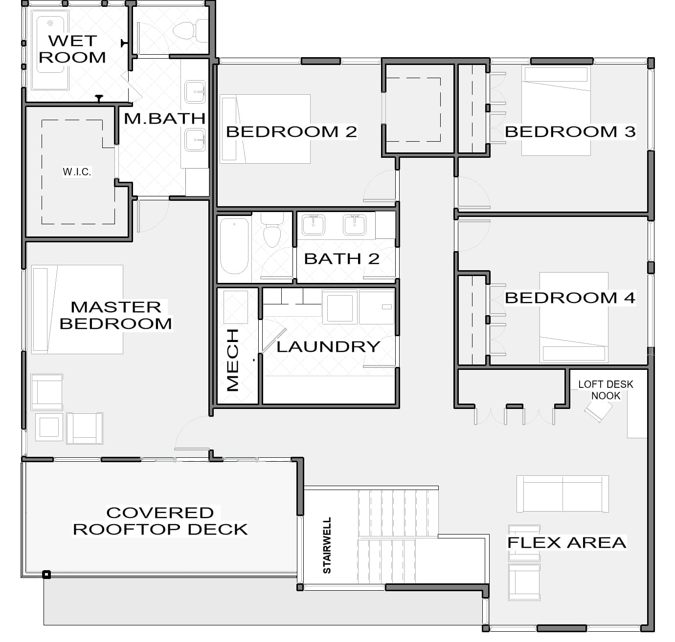 Bristol Second Floor Plan