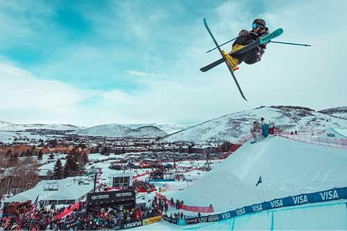 Skiier in Park City, Utah